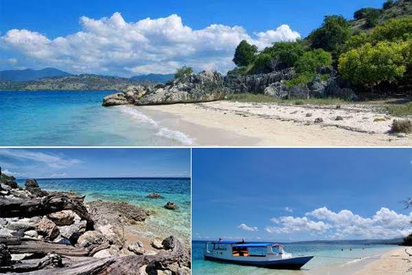 Pantai Poto Jarum, salah satu tempat wisata di pulau moyo